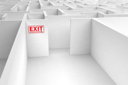 Conceptual image displaying the risk of a faulty exit strategy Stock Photo - 8983189