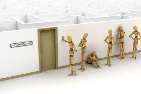 daremny: Wiersz odbiorców oczekujących dla obsługi klienta