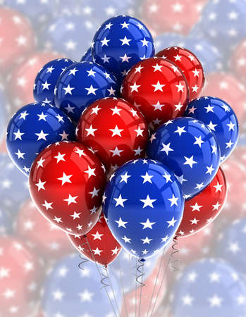 American patriotic balloons in traditional colors photo
