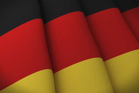 neatly: Flag of Germany neatly folded Stock Photo