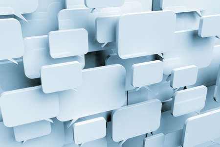 Many blank speech bubbles forming a cloud Stock Photo - 10171046