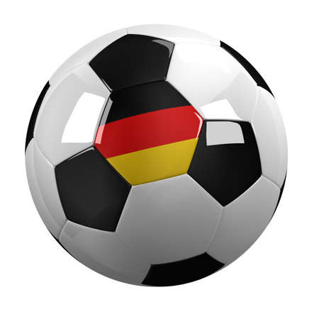 european championship: Soccer Ball with the flag of Germany on it Stock Photo