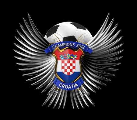 Croatia Soccer Ball - easy to isolate over white background photo
