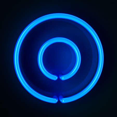 Enseigne au néon très détaillé montrant un zéro Banque d'images - 12179415