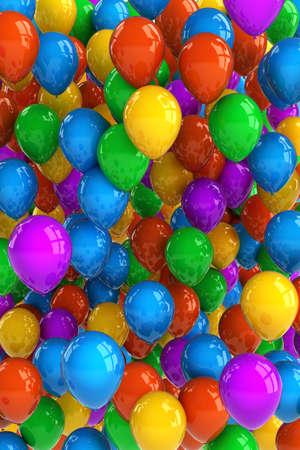 Colorful ballon de fête avec des dizaines de ballons Banque d'images - 12798398