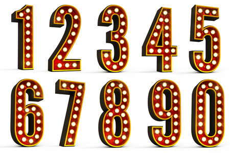2 0: Set of all ten numbers  Stock Photo