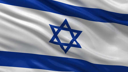 flag of israel: Flag of Israel waving in the wind with highly detailed fabric texture