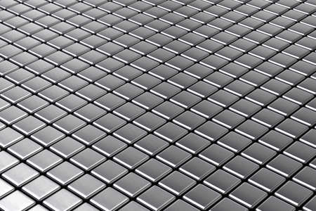 Symmetrical abstract background out of metal squares Stock Photo - 15305046