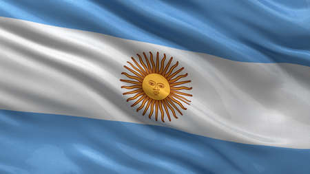 argentinean: Flag of Argentina waving in the wind