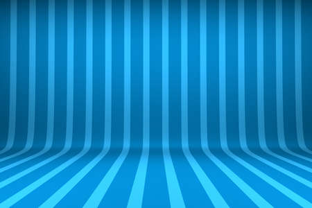 stage decoration abstract: Empty studio with striped backdrop Stock Photo