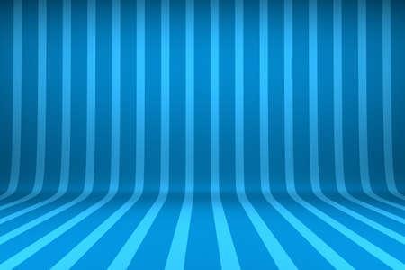 Empty studio with striped backdrop Foto de archivo