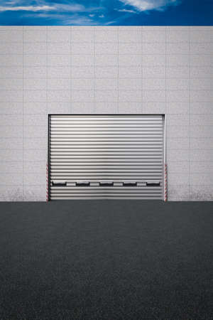 Closed delivery gate at the back of a store Stock Photo - 17481647