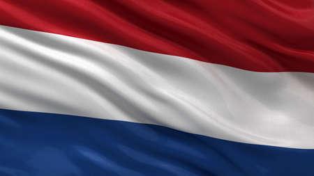 Vlag van Nederland zwaaien in de wind
