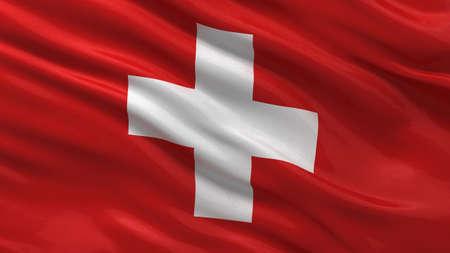 switzerland flag: Flag of Switzerland waving in the wind
