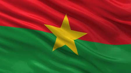 burkina faso: Flag of Burkina Faso waving in the wind
