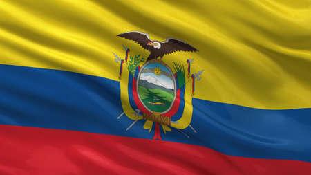 ecuadorian: Flag of Ecuador waving in the wind
