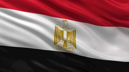 egypt flag: Flag of Egypt waving in the wind Stock Photo