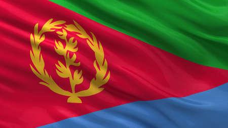 eritrea: Flag of Eritrea waving in the wind