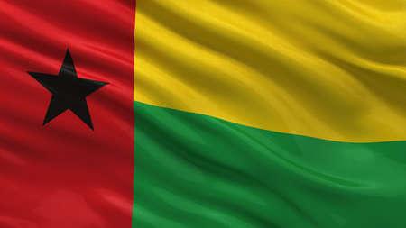 guinea bissau: Flag of Guinea Bissau waving in the wind