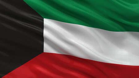 kuwait: Flag of Kuwait waving in the wind