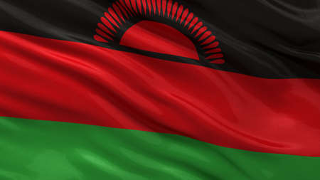 malawian flag: Flag of Malawi waving in the wind