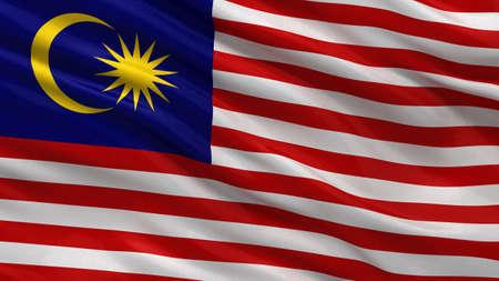 Vlag van Maleisië zwaaien in de wind