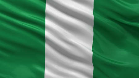 Flag of Nigeria waving in the wind Banque d'images