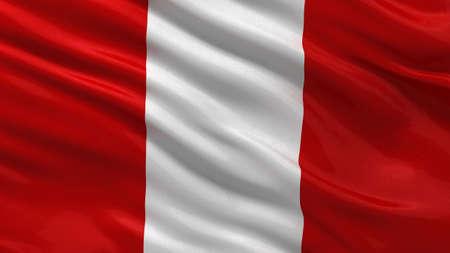 bandera de peru: Bandera de Perú ondeando en el viento