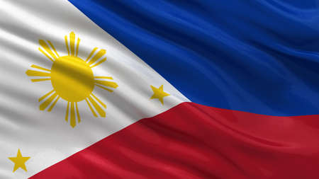 philippines flag: Flag of Philippines waving in the wind