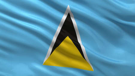 saint lucia: Flag of Saint Lucia waving in the wind