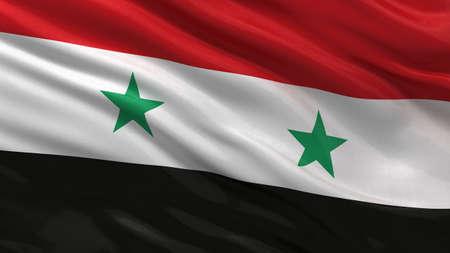 syria: Die Fahne von Syrien einwirken, die den Wind Lizenzfreie Bilder