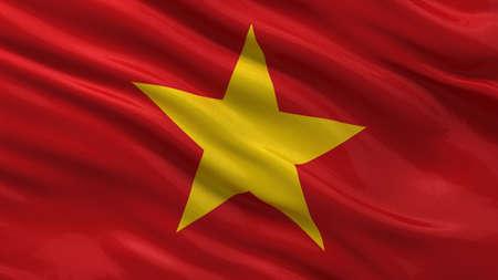 vietnam flag: Flag of Vietnam waving in the wind