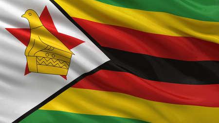 zimbabwe: Bandera de Zimbabwe que agita ni el viento Foto de archivo