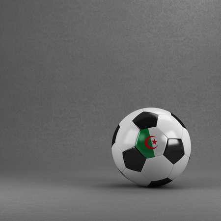 Algierski: Algerian soccer ball in front of plaster wall