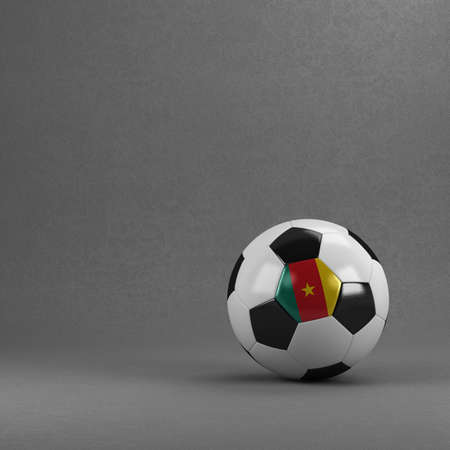cameroonian: Cameroonian soccer ball in front of plaster wall