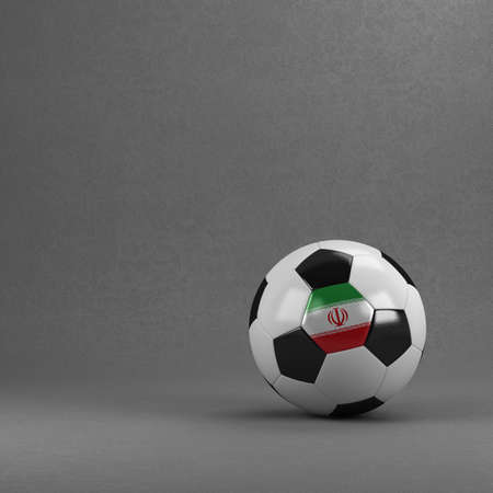 iranian: Iranian soccer ball in front of plaster wall