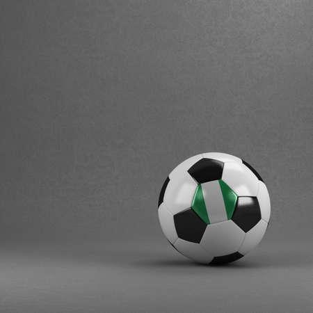 nigerian: Nigerian soccer ball in front of plaster wall