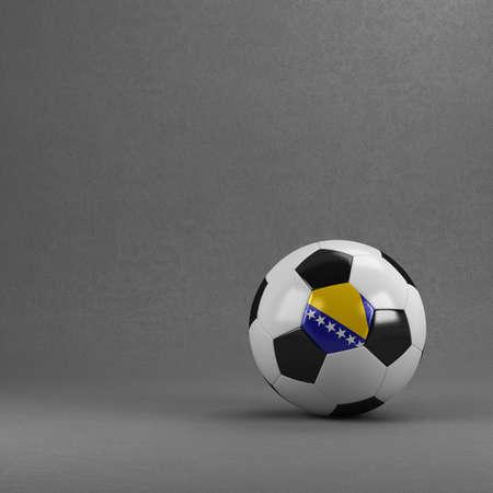 bosnian: Bosnian soccer ball in front of plaster wall