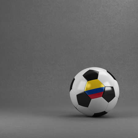 Colombian soccer ball in front of plaster wall