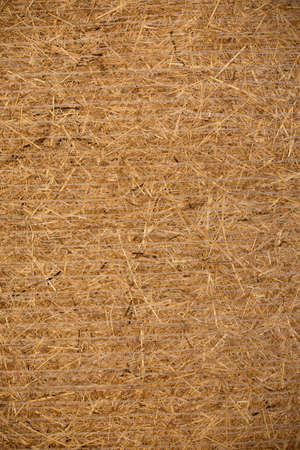 hayride: Side view of a compressed hay bale