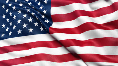 the united states flag: Flag of the United States of America Stock Photo