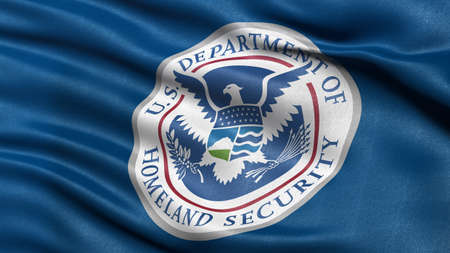 homeland: Flag of the Department of Homeland Security waving in the wind