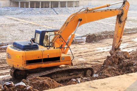 job site: At the job site excavators Editorial
