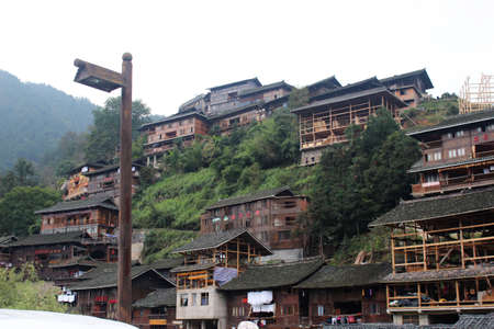 miao: Xijiang Miao Village in Guizhou Editorial