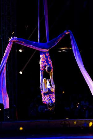 the acrobatics: Rendimiento acrobacias rusa en el circo