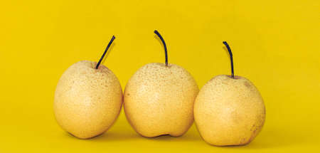 solid color: Solid color background shot pear Stock Photo