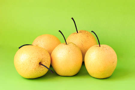 solid background: Solid color background shot of pear
