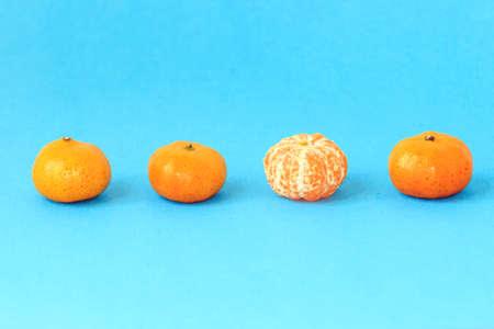 solid color: Solid color background shot of tangerine orange Stock Photo