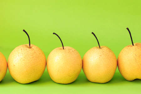 solid color: Solid color background shot of pear