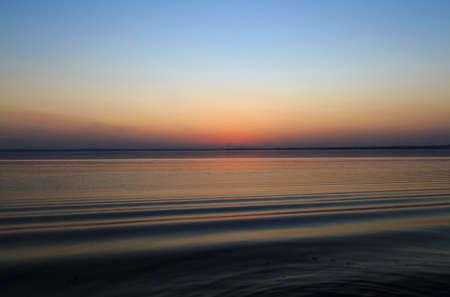 water's edge: Waters edge sunset
